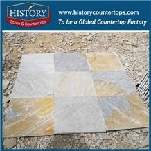 History Stone Brown Color 30x30 Stacked Wall Tiles, Floor Tiles, Road Paving Wood Look Slate Stone in China