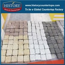 History Stone China Factory Supply G682 Yellow Beige Natural Granite Tile Competitive Price Outdoor Garden Walkway, Driveway Paving Landscaping Stones Cobblestone& Pavers