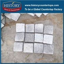 History Stone China Factory Supply Light Grey Natural Granite Tile Competitive Price Outdoor Wall Tiles, Wall Covering, Garden Walkway, Driveway Paving Landscaping Stones Cobblestone& Pavers