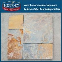 History Stone Chinese Regular Surface Rustic Color Pattern Paving Stone Slate Tiles Outdoor Flooring Interlocking Diy Slate Decking Tiles