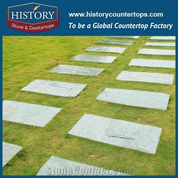 History Stone Green Slate Tiles Low