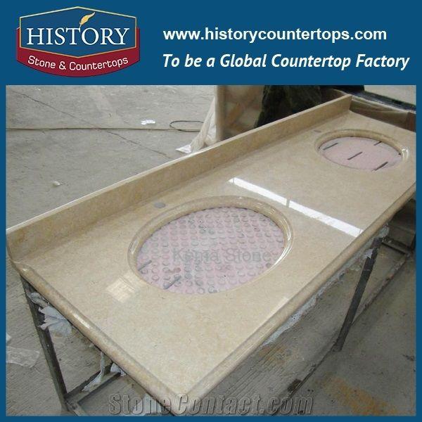 History Stone Hmj015 Galala Beige Flat Polished Trim Molding Customizable  Vanity Units Luxury Decoration Commercial Use Marble Polish Countertops U0026  Bathroom ...