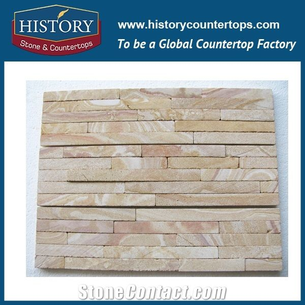 History Stone Stacked Brick Red Sandstone Interior Exterior Wall Cladding Panels Decorations