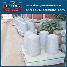 History Stones China Constructional Project Outdoors Scenery Car Stop Useful Sphere Light Grey Granite G603 Ball Street Bollards Parking Stone