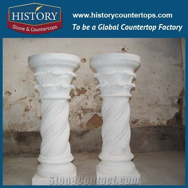 History Stones China Factory Suppliers Marble Stone Pure White