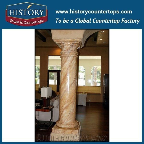 History Stones China Large Project Tall Figurative Galala Beige