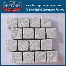 History Stones China Own Factory High Quality Light Grey G603 Non-Slip Natural Split Granite Cubes with Wholesale Outdoor Boarder Paving, Garden Stepping Road, Building Outside Wall Covering, Landscap