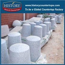 History Stones Chinese Grey Landscaping Natural Granite G603 Walking Street Column Car Stopping Driveway Pillar Street Bollards Parking Stone
