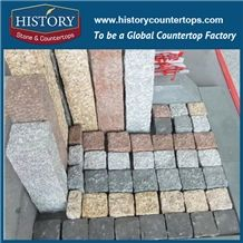History Stones Chinese Owner Quarry Hot Sale G682 Yellow Beige Granite Tiles Bush-Hammered Rough Surface Natural Split,Garden Road, Driveway, Outdoor Flooring Landscaping Stones Cube Stones & Paving
