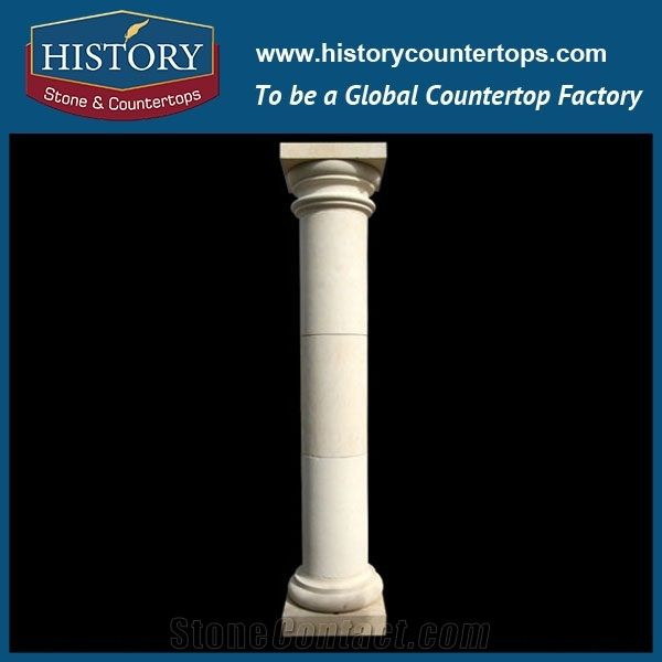 History Stones Classical Style Architectural Carved Column House Marble  Stone Roman Pillar Design Home Balcony Home Outdoor Gate Indoor Columns