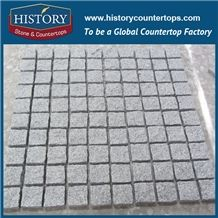 History Stones G603 Chinese Granite Flooring Popular Rough Natural Cheap Price with Production Line for Sale Driveway, Flagstone, Garden Stepping, Compass Landscaping Stones Cube Stone&Paving Stone