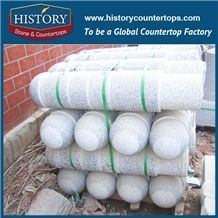 History Stones Grey Granite G603 Street Car Stopping Ball Garden Stone Round Road Barrier Outdoor Flamed Traffic Stops Parking Stone