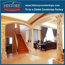 History Stones High Grade Stand Modern Luxury Natural Marble Interior Decoration House Pillars Designs Nero Marquina Decorative Home Column