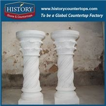 History Stones Outdoor Building Handrail Decorative Red Marble Round