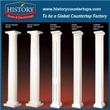 History Stones Professional Design a Grade Quality Wholesale Customize Outdoor Roman Stone Marble Columns for Park Door Decorative Column