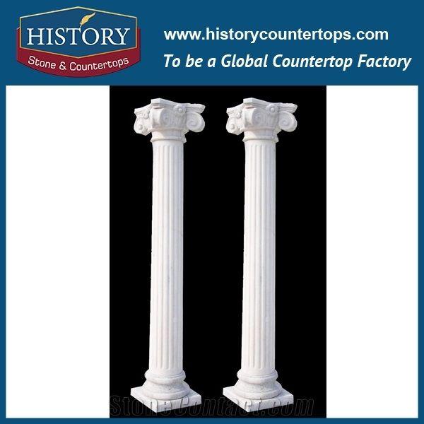 History Stones Pure White Marble Stone Four Season Gods Figure Gate