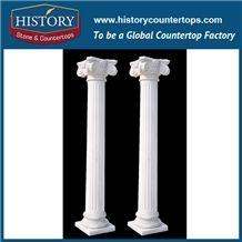 History Stones Pure White Marble Stone Four Season Gods Figure Gate Columns Building Roman Lady Romans Pillar Design Architecture Column