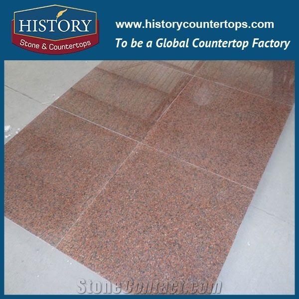 Historystone China Cheap Tianshan Red Granite Stone Slabs Be Used