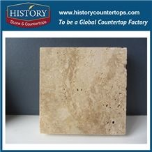 Historystone Imported Beige Travertine Polished Surface Wall and Floor Tiles & Slabs with Cheap Price,Be Used Indoor Ground/Interior Walls/The Outdoor /Stair/ Stage Face Plate,Cut-To-Size or Any Other