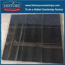 Historystone Imported in India Natural Super Polished Surface Beauty Design Galaxy Black Granite Stone for Salbs or Tiles,Any Customized Size