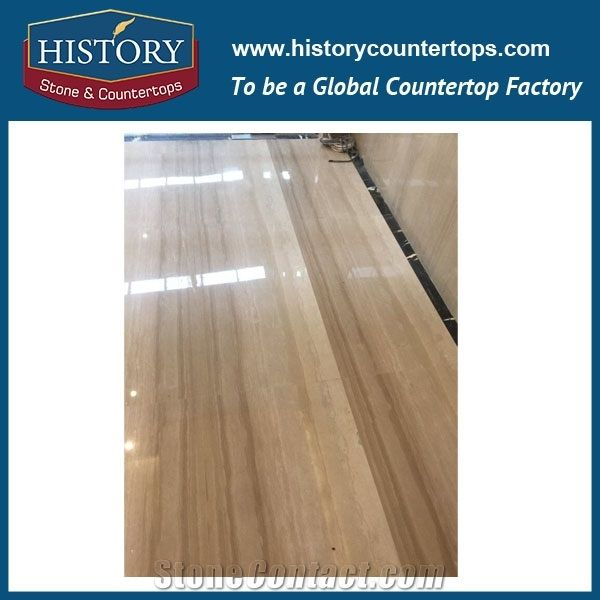 Historystone Imported Italy Wooden Hot Sale Natural Stone Polished