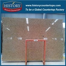 Hot Sale Polished/Honed Africa Haiti Golden Natural Granite Floor Tile Own Factory Good Price Natural Building Stones Slabs for Hotel Flooring & Walling Cladding Panels, Cut-To-Size