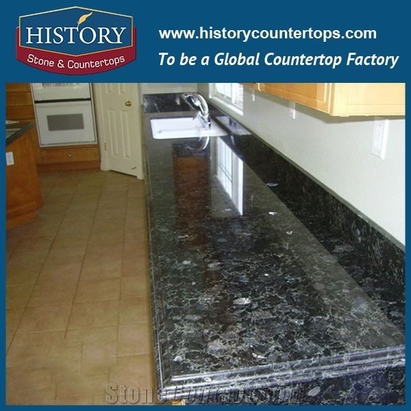Labradorite Volga Blue Granite Countertops/Ukraine Blue