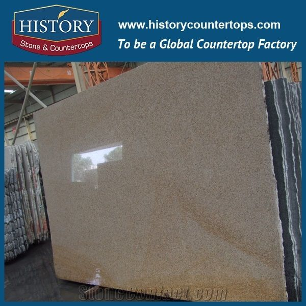 Own Factory Cheapest Price Chinese Polished G682/Rusty Yellow/Sunset  Gold/Golden Sand/Giallo Rusty/Yellow Rust/Desert Gold/Giallo Fantasia  Granite Slabs ...