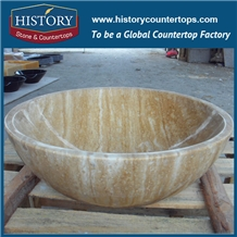 Single Round Bowl Freestanding Bar Stone Sinks
