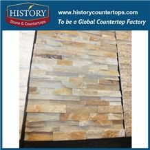 Stacked Nature Split Slate Cultural Stone for Interlocking Interior and Exterior Wall Cladding, Wall Décor, Corner Panels