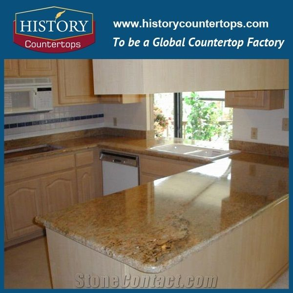 Merveilleux Yellow Color Granite Gold Imperial Countertops, Kitchen Worktops For Solid  Surface, Island Tops, Bar Tops, Cut To Size For Multi Family And Apartment  ...