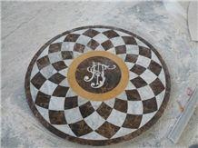 Emperador Dark Water Jet Medallions / Spain Marble Floor Medallions,Round Medallions,Carpet Medallions,Mosaic Medallions