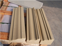 Gold Sandstone Mouldings /Sandstone ,Dome Mouldings,Ogee Moldings,Bullnose Moldings, Wall Trim