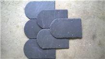 U Shape Roof Covering, Black Slate Roof Tiles