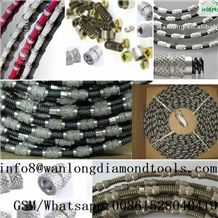 Diamond Wire Saw Using Wanlong Diamond Wire Saw for Stone Quarrying is Environment-Friendly, Which Produces High Economic and Social Benefits.Wanlong Quarry Wires Were Connected by Long Lasting, Black