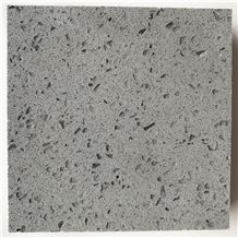 Engineered/Artificial Quartz Stone Sparkling Grey Marble Look Solid Surface Polished Slab for Flooring Tile Wall Panel