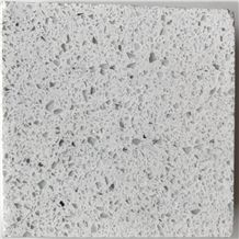 Engineered/Artificial Quartz Stone Sparkling White Marble Look Solid Surface Polished Slab for Tile Wall Panel for Interior Decor.