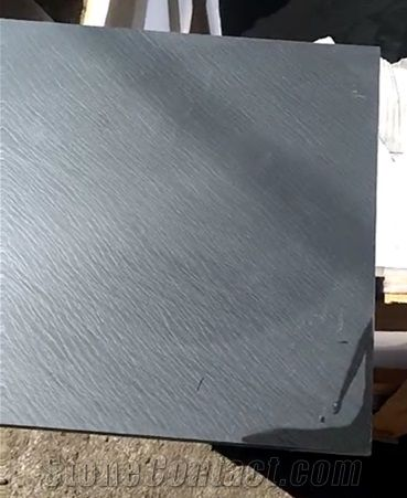 Classical Backyard Use Black Dark Honed Slate Floor Tiles From China