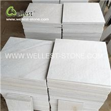 Natural Stone White Quartzite Flamed Brushed Flooring Tile 800x800 for Outdoor Exterior Patio Swimming Pool Coping and Paver