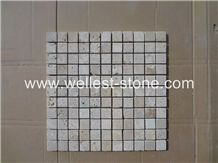Travertine Mosaic Tile,Wall Covering,Square Mosaic Tile for Wall Decoration