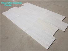 China Natural White Quartzite Flamed Tiles for Floor