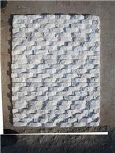Curved Shape Snow White Quartzite Ledge Stone, Culture Stone, Wall Panels