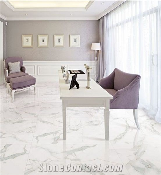 Size Calacatta White Marble Look