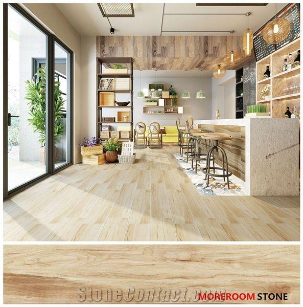 Kitchen Wood Texture Look Flooring