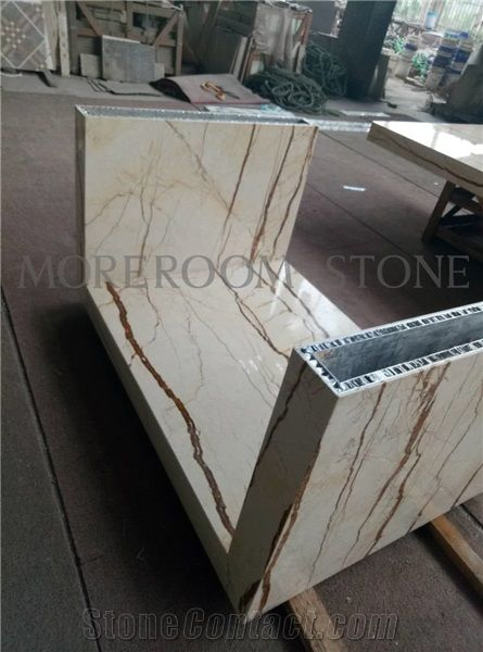 Polished Aluminum Honeycomb Marble Countertop Light Weight