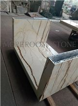 Polished Aluminum Honeycomb Marble Countertop Light Weight Bar Counter