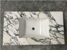 Customized Marble Bath Countertop,Vanity Top