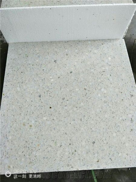 White Terrazzo Honed Floor Tile Wall Stone Outdoor Paver