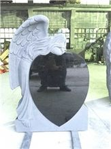 Indian Black Tombstone Monument Angel Headstone