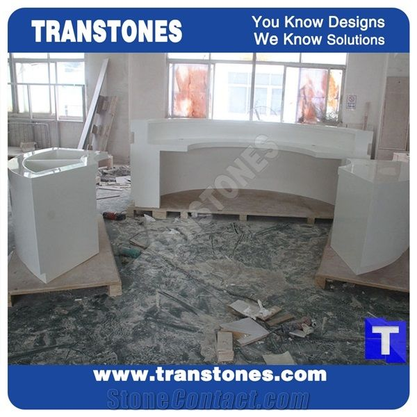 Best Price Office Furniture Solid Surface Reception Counter